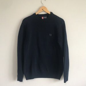 Chaps Ribbed Navy Blue Sweater